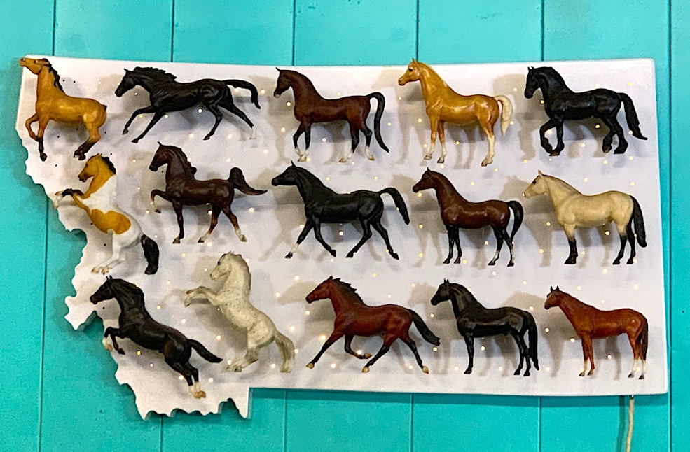 A horse sign in Missoula, Montana.