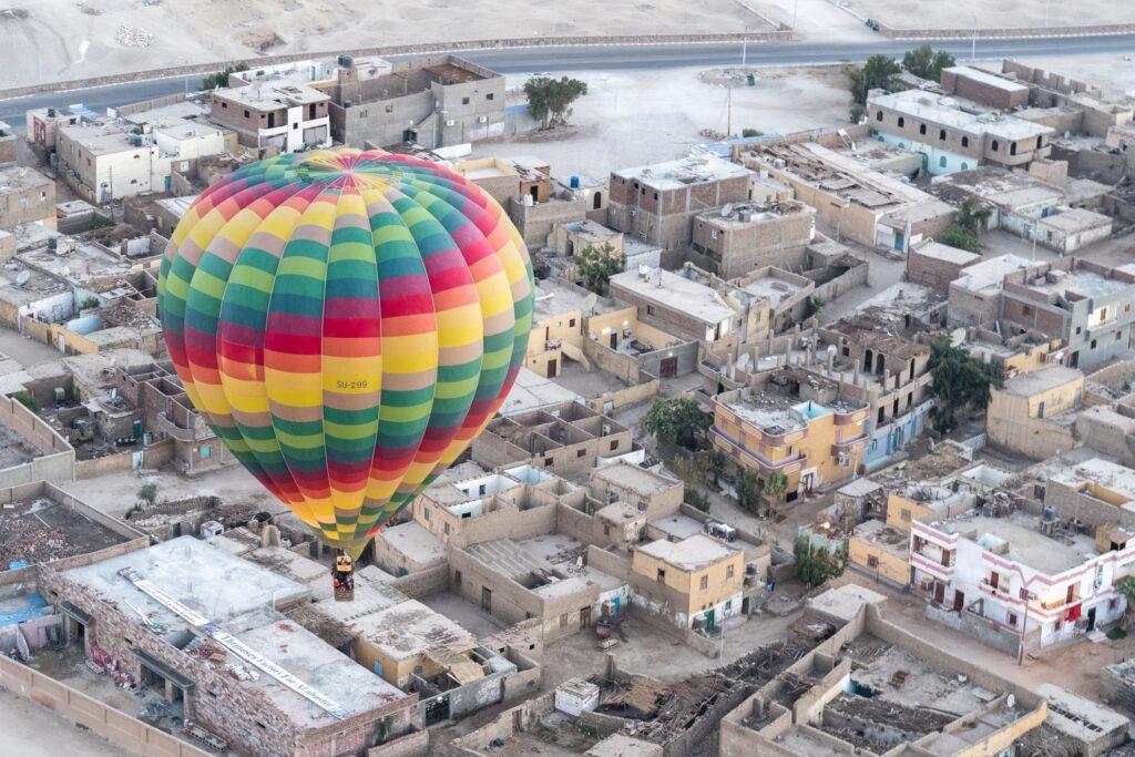 A hot air balloon in Egypt.