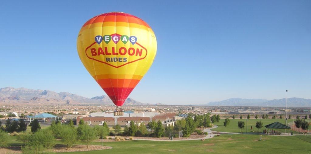 A hot air balloon in Nevada.