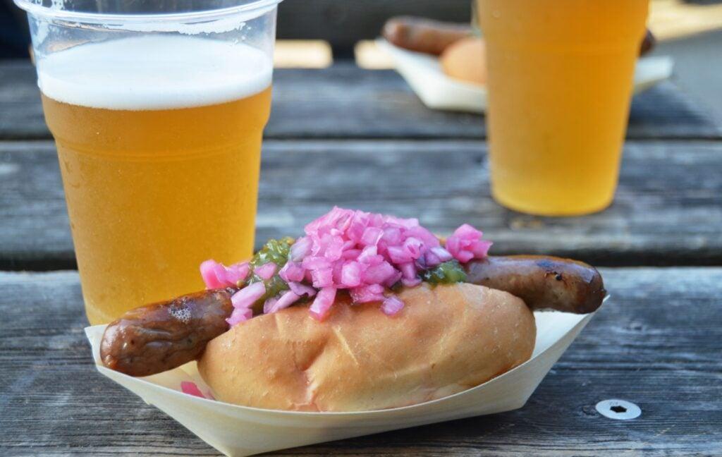 A hot dog from Copenhagen.