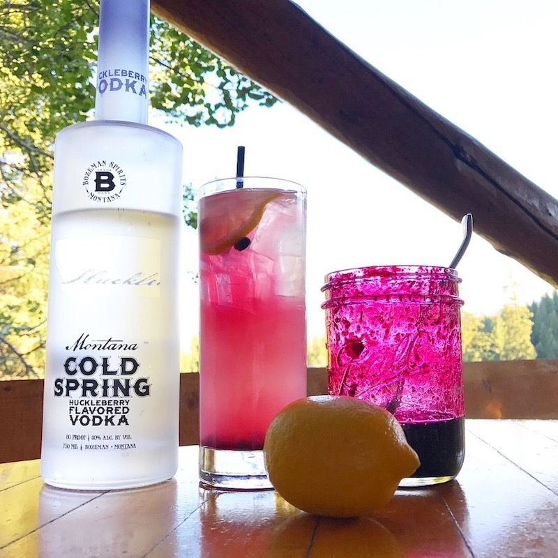 A Huckleberry Cocktail at Lone Mountain Ranch.