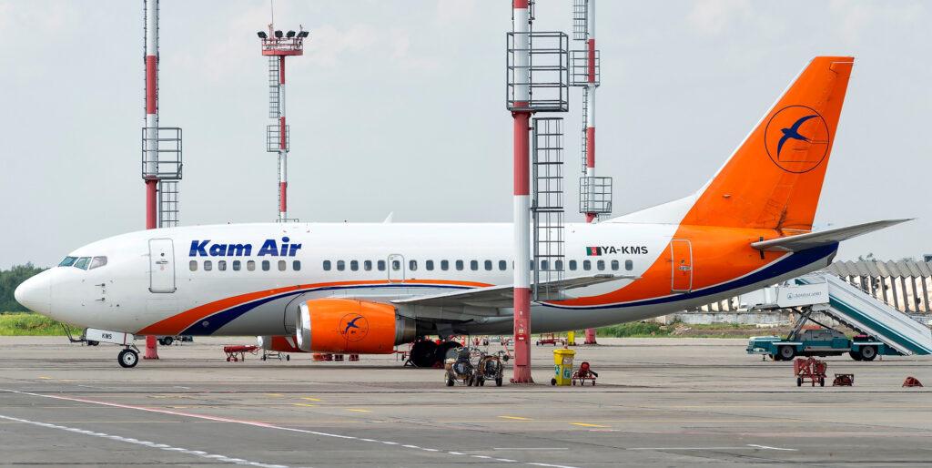 A Kam Air plane.