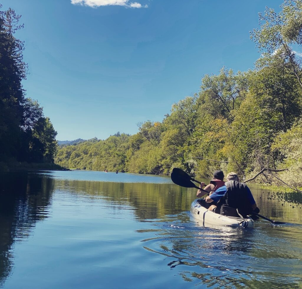 A kayaking tour on the Russian River.