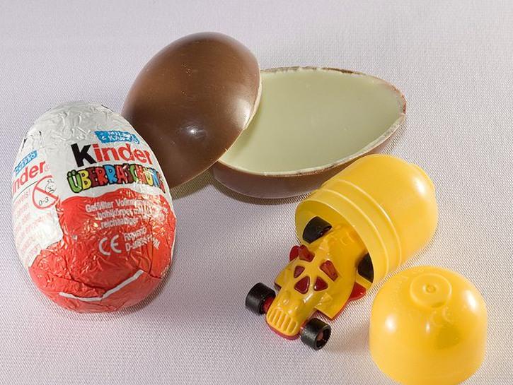 A Kinder surprise egg.