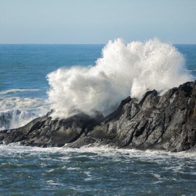 A king tide on the coast of Oregon.