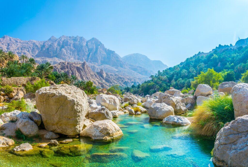 A lagoon in Wadi Tiwi, Oman.