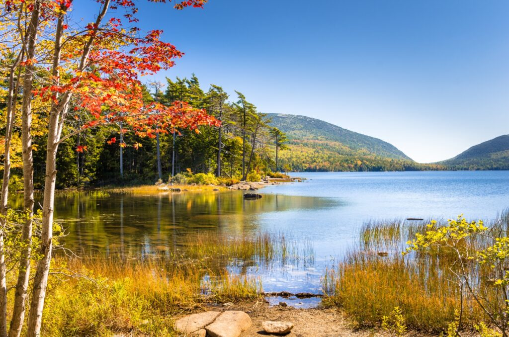 A lake in Acadia National Park.