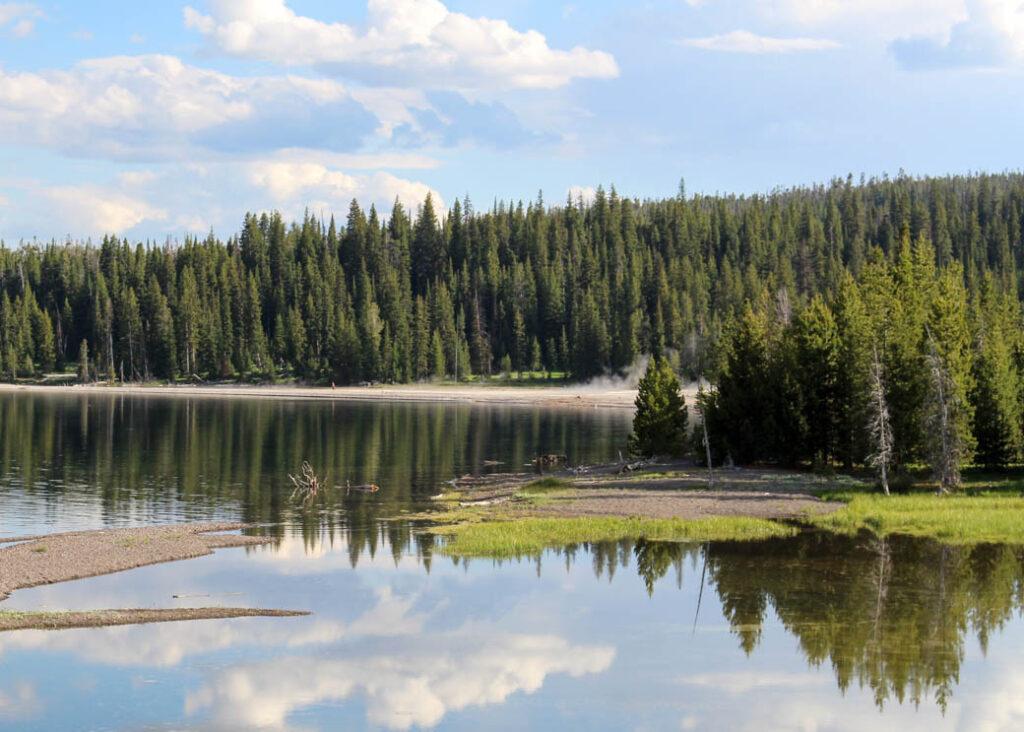 A lake in Yellowstone National Park.