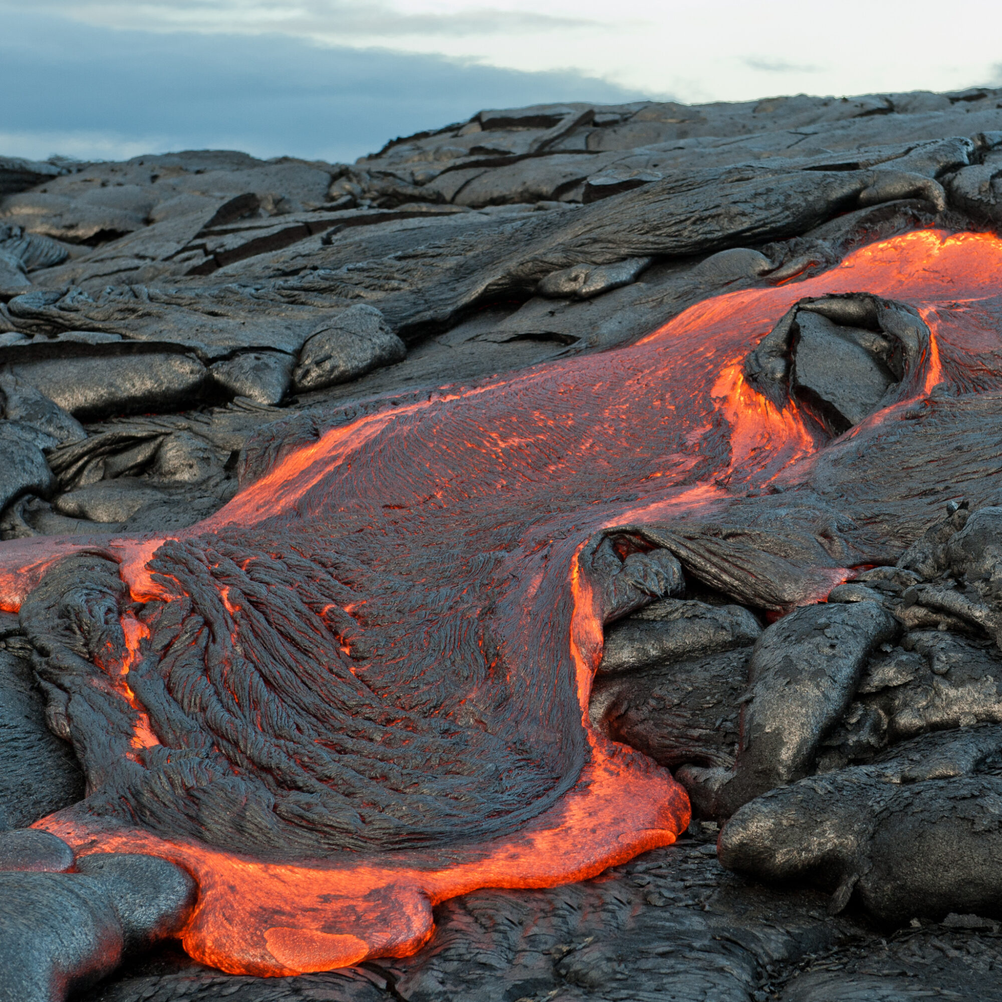 A lava flow in Hawaii Volcanoes National Park.