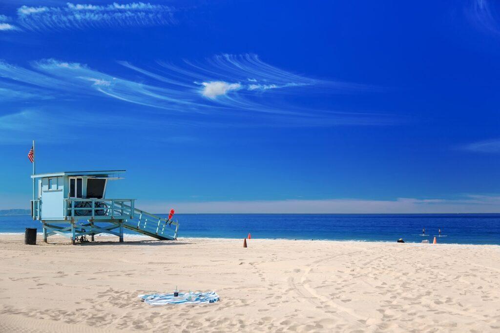 A lifeguard station on Hermosa Beach.