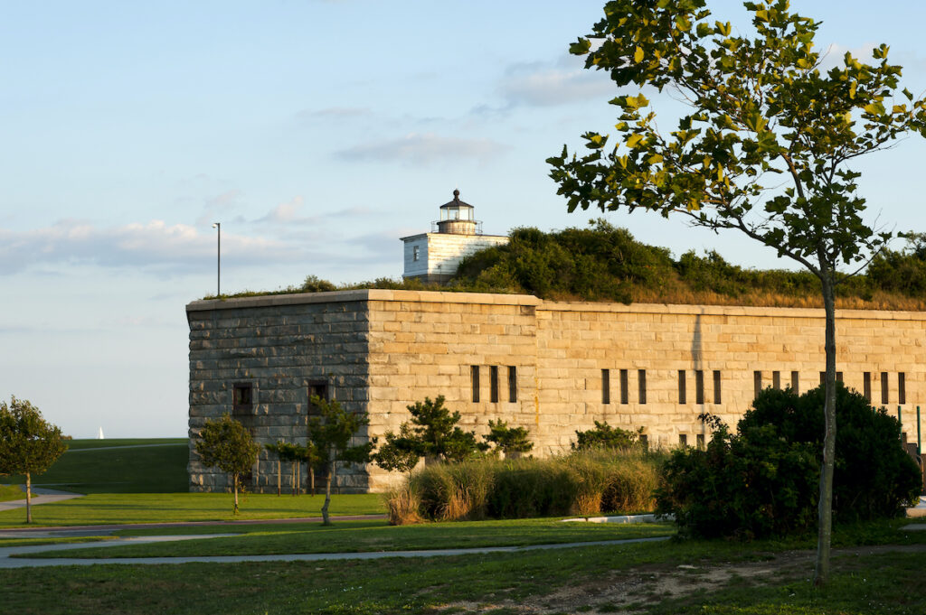 A lighthouse in Fort Taber.