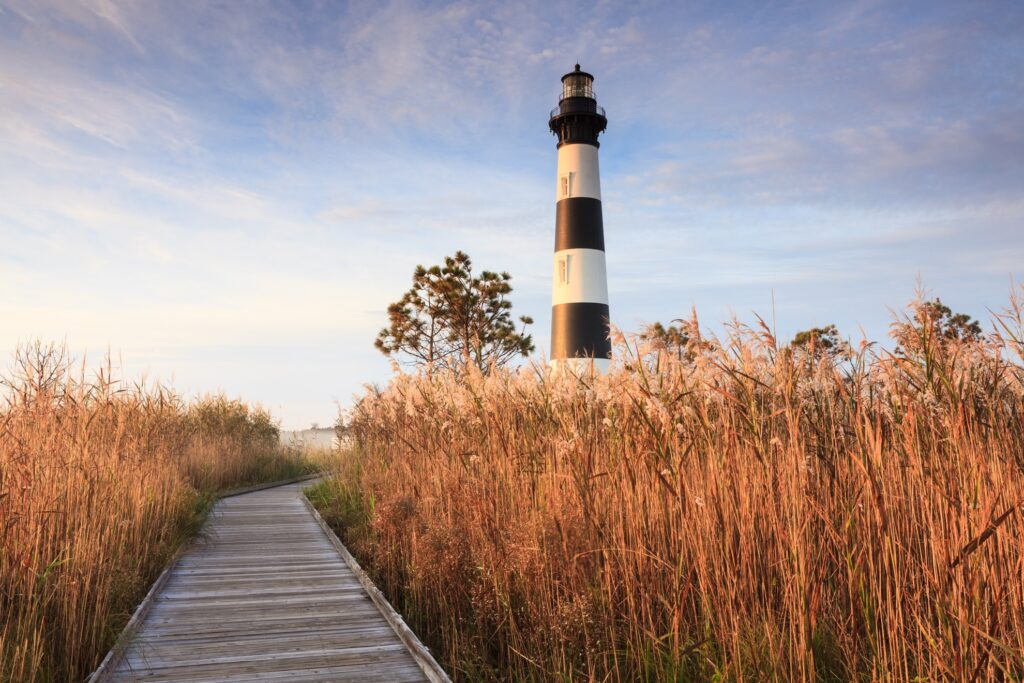 A lighthouse in North Carolina.