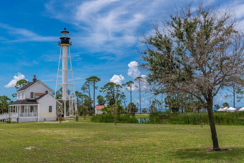 A lighthouse in Port St. Joe, Florida.