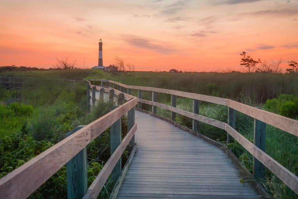 A lighthouse on Fire Island.