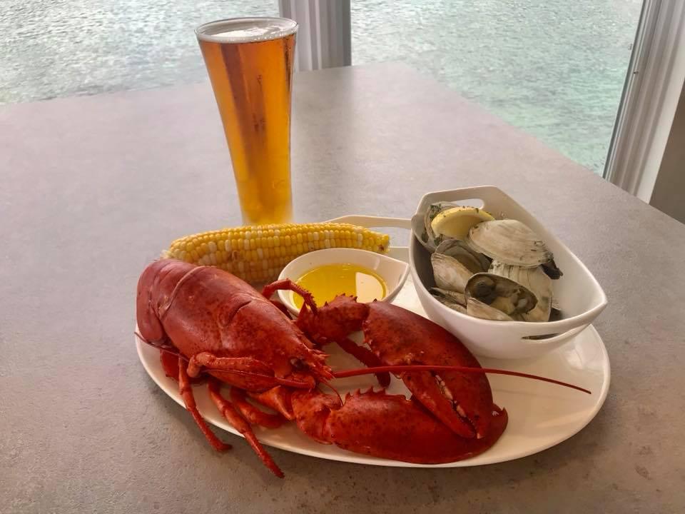 A lobster from Ogunquit Beach Lobster House.