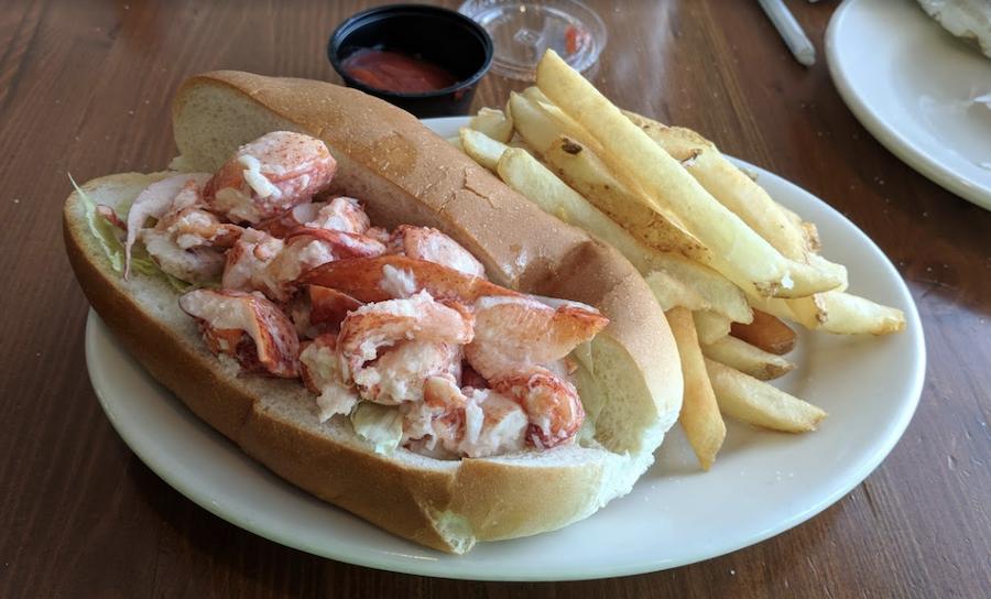 A lobster roll from Helen's Restaurant.
