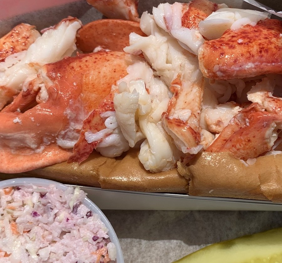 A lobster roll from McLoon's Lobster Shack.