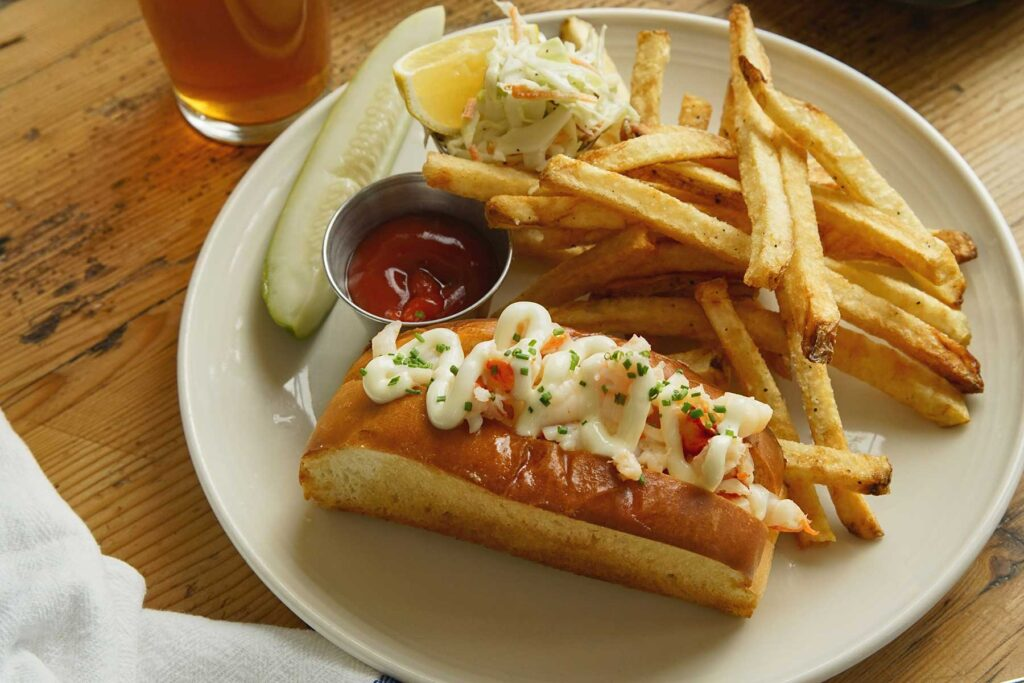 A lobster roll from Scales.