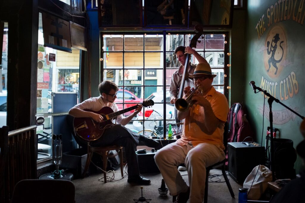 A local band in New Orleans.