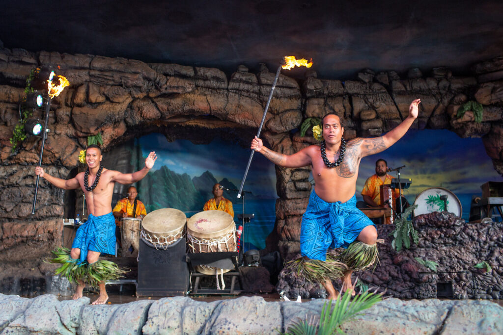 A luau at Hyatt Regency Maui Resort and Spa.