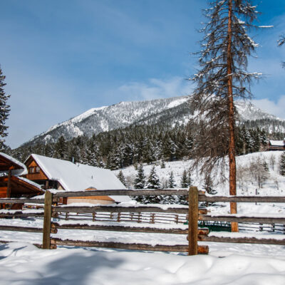A luxury cabin at Lone Mountain Ranch.