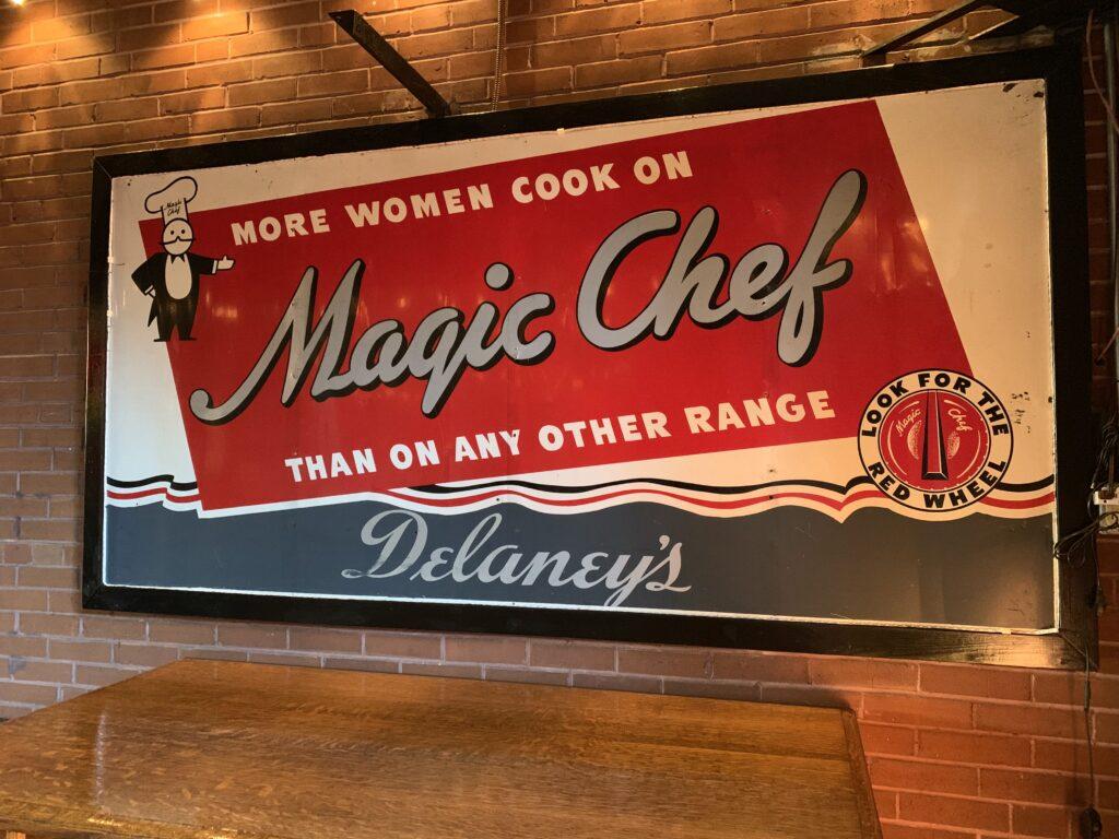 A Magic Chef advertisement.