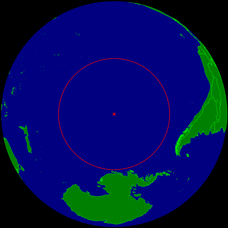 A map of Point Nemo's location.