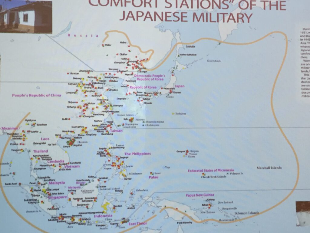 A map of the comfort women stations.