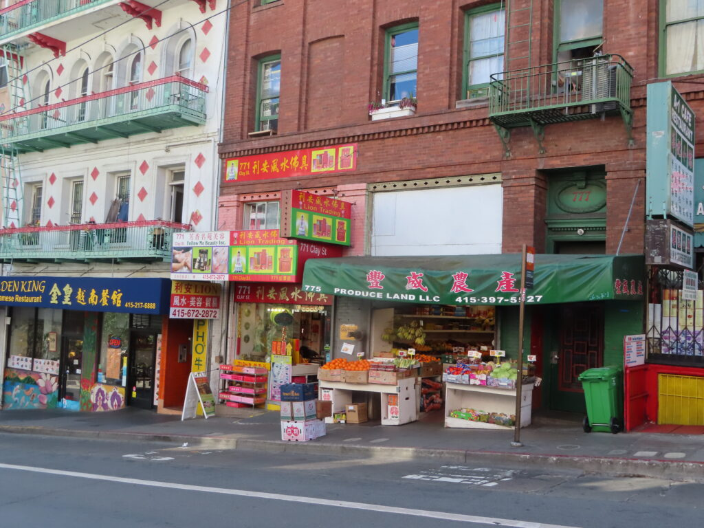 A market in San Francisco's Chinatown.