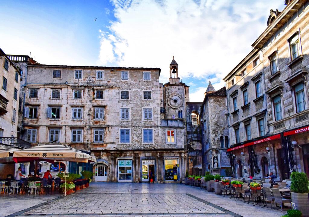 A market square in Split, Croatia