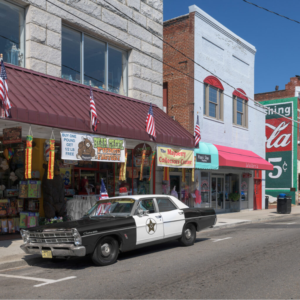 A Mayberry squad car in Mt. Airy, North Carolina.
