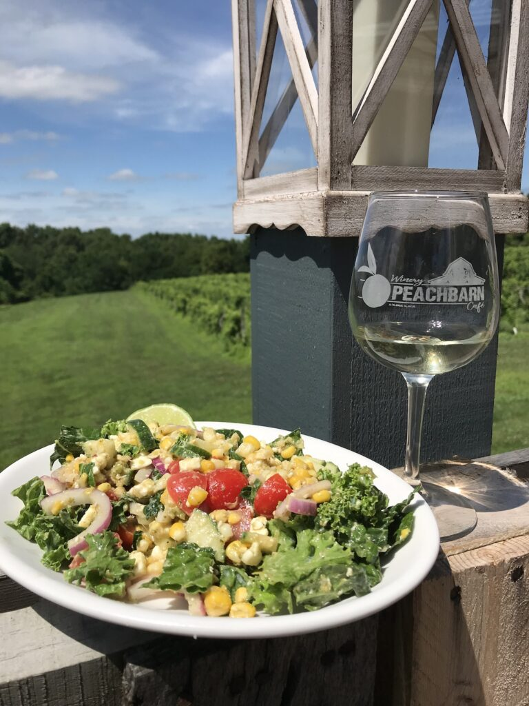 A meal along the Shawnee Hills Wine Trail.