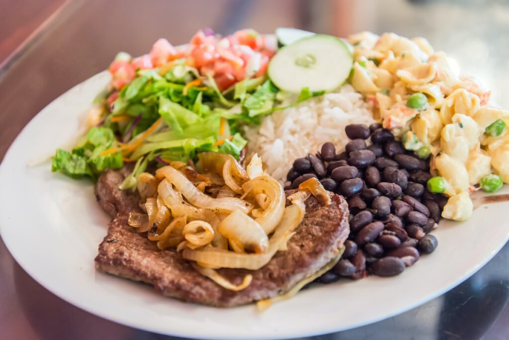 A meal from Costa Rica.