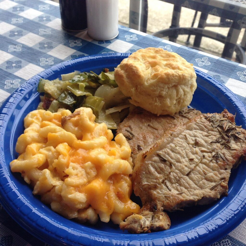 A meal from Julia Belle's Restaurant in Florence, South Carolina.