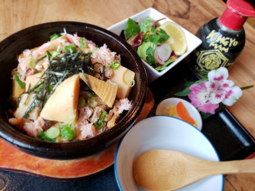 A meal from Kingyo Izakaya in Vancouver, Canada
