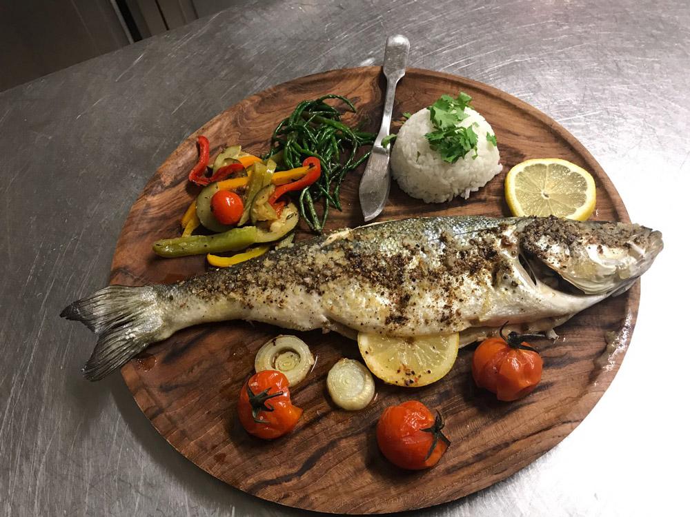 A meal from Le Jarden en Ville in Carcassonne.