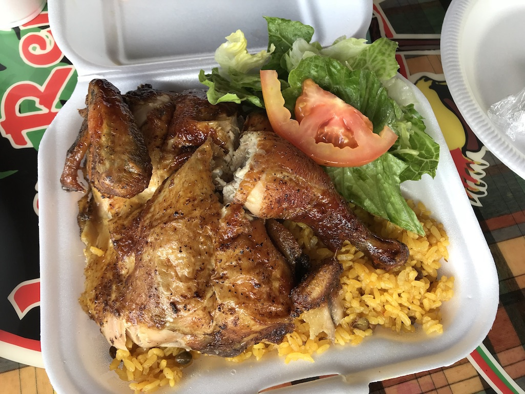 A meal from Le Reine Chicken Shack.