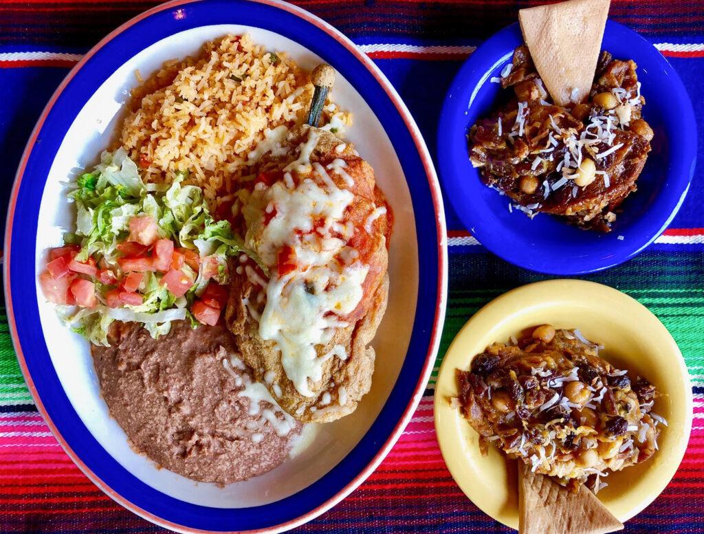 A meal from Mi Tierra Café Y Panadería.