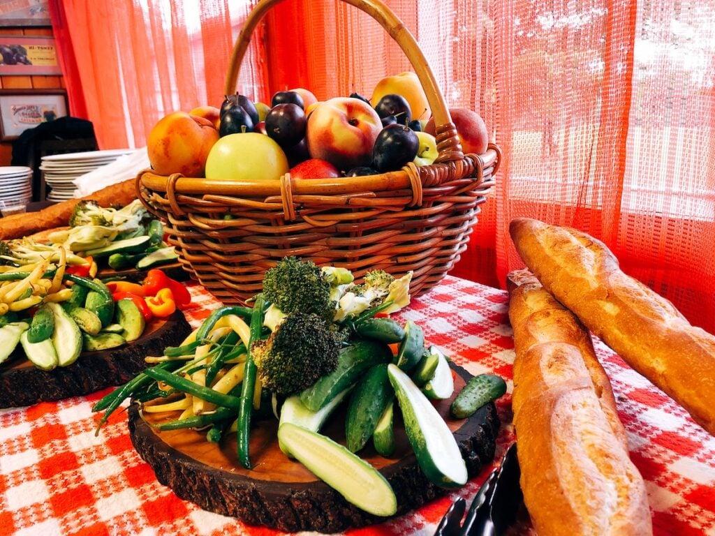 A meal in Watkins Glen, New York.
