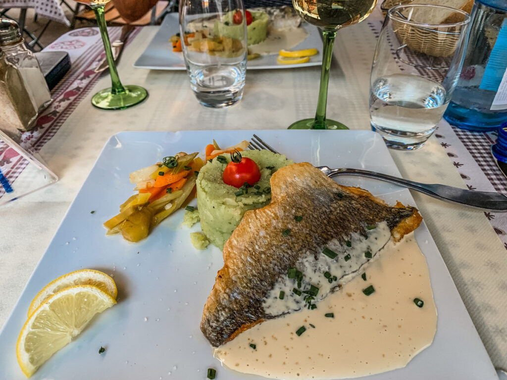 A meal the writer had in Strasbourg.