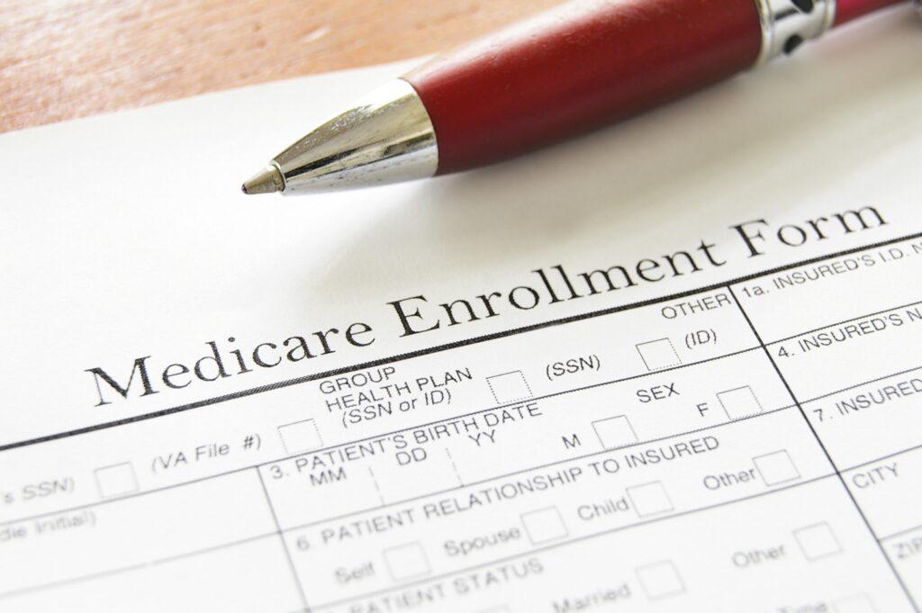 A Medicare enrollment form.