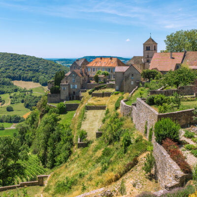 A medieval village in France's Jura wine region.