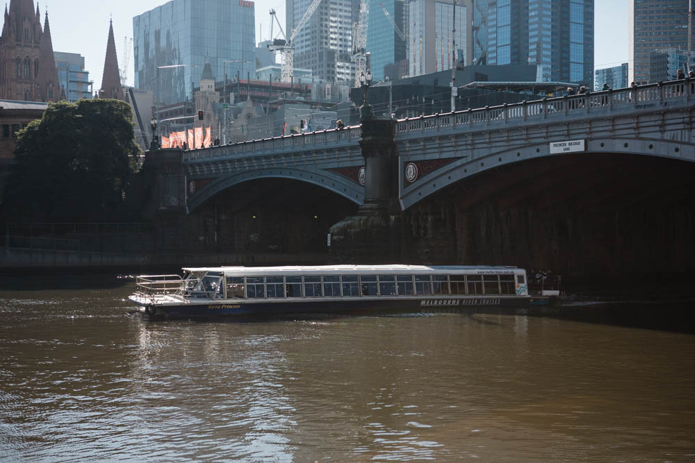 A Melbourne river cruise on the Yarra River.