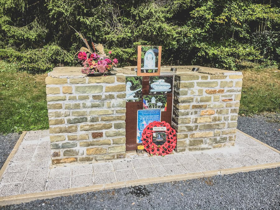 A memorial at the Bois Jacques.