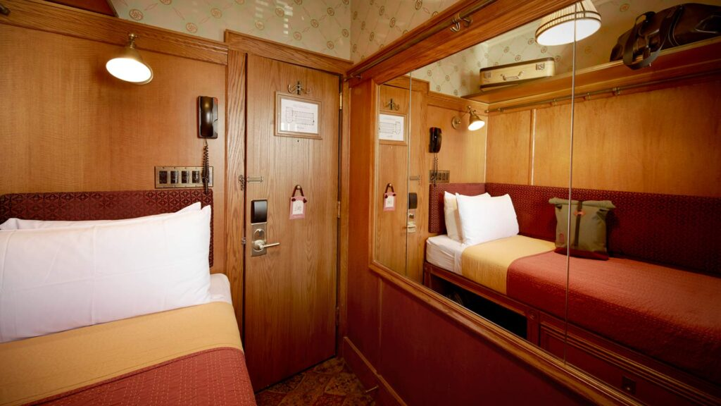 A micro-hotel room at The Jane.