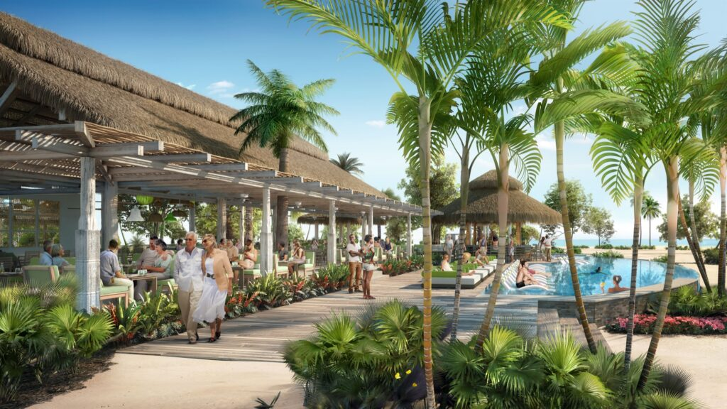 A mock-up of the new Coco Beach Club.