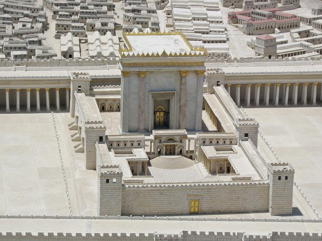 A model replica of the Second Temple, Jerusalem