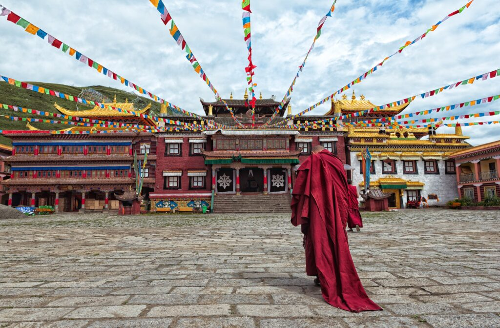 A monk in Tibet.