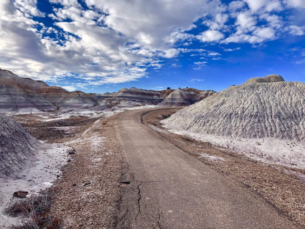 A moonscape in the Petrified National Forest.