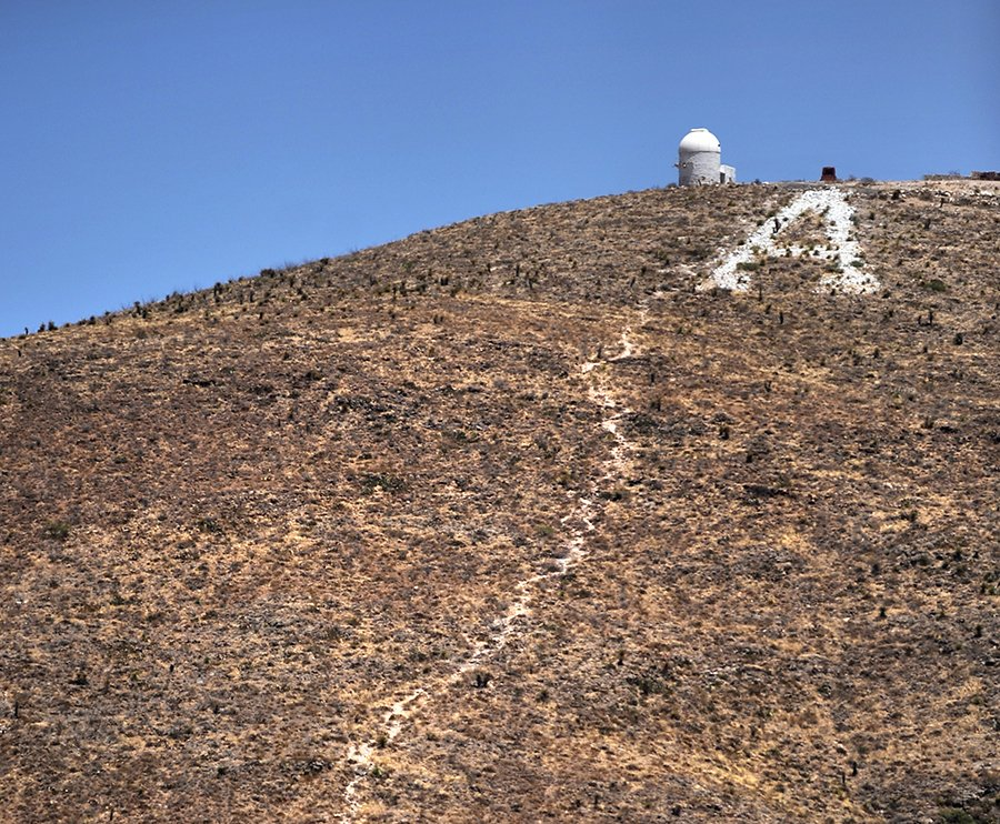 """""""A"""" Mountain in Las Cruces."""